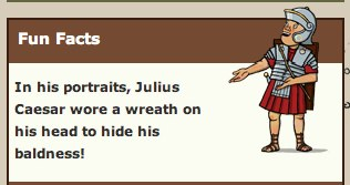 fun fact about julius caesar